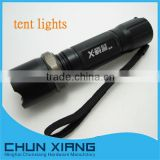 brand led adjustable focus flash light with tent light function for camping