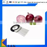 Whosales stainless steel onion holder /onion slicer /onion cutter                                                                         Quality Choice