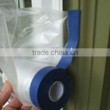 Best seller PE sticky pretaped plastic masking film