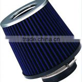 "UNIVERSAL FITMENT 3"" RACE PERFORMANCE COLD BLUE AIR INTAKE CONE FILTER"