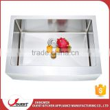 OEM accept CUPC approve 760*560*254mm undermount sink clips stainless steel apron front sink