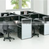 Office cubicle workstation t shaped 4 person office desk (SZ-WSB395)
