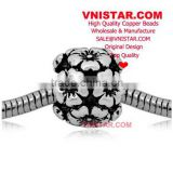 Vnistar Lead Free & Nickel Free & Cadmium Free European copper alloy beads, flower blossoms shape beads for bracelet CEB001