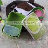 beauty bamboo fiber eco friendly bamboo dinner plates set, disposable bamboo lunch box