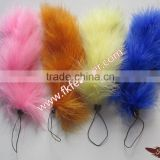 Wholesale Cheap Marabou Turkey Feather String Doll Keychain And Feather String Doall Characters For Decorations