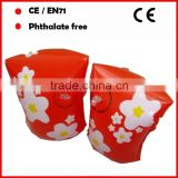 Beautiful PVC inflatable swimming armband for kids red color