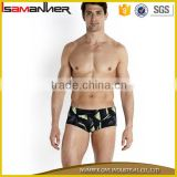 Sexy sport swimming trunk lycra fancy printing swim suit men                                                                                                         Supplier's Choice