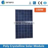 High Efficiency Chinese Solar Panel Price 150W 36V Poly Solar Panel Solar Modules TUV Certified