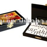 Wooden Double Six Domino Game Set box