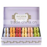 Eco-friendly thick paperboard macaron display box gift set paper box