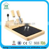 Cheese set with magnetic hold and slate board
