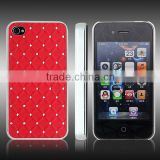 Hard plastic and TPU hybrid case for iPhone 4 4S with bling rhinestone