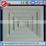 Aluminium square exhaust air diffusers for HVAC / ventilation made by China manufacturer