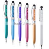 Stylus Pen, [6-Pack] Colors 2-in-1 Slim Crystal Diamond Stylus And Ink Pen for Touch Screen Devices for iPhone /ipad/tablet