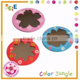 Flower pattern wooden compact one way mirror,small hand mirrors