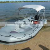 CE certifitaction rigid inflatable boat with outboard motor engine