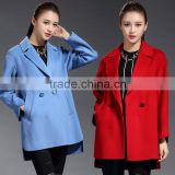 High Quality Women's Wool Blend Lapel Split Suit Collar Cape Coat Jacket OEM ODM Type Clothes Factory Manufacturer Guangzhou