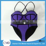 The Stitched Purple Push-up Ladies Bikini