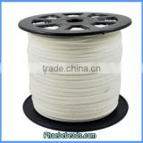 Wholesale Flat Faux White Suede Cords Hot Sale Jewelry Accessories SC-1125