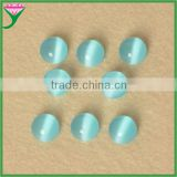 HS-25 color half round cabochons flat bottom light blue man-made glass cat eye for pendant