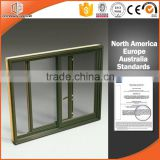 Small office wood aluminum composite sliding window by window and door factory                                                                                                         Supplier's Choice