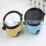 Rice cooker plastic piggy bank, Rice cooker plastic piggy bank for sale, custom your design piggy bank manufacturer