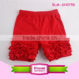 Wholesale girls icing pants shorts lovely kids summer spring ruffle shorts
