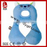 2014 new product soft baby toy stuffed animal toys plush blue cat baby travel neck pillow