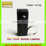 LOW LIGHT H.264 720P HD MINI DVR SPY BUTTON CAMERA , WITH MAGIC RING CONTROLLER Hidden Spy Button DVR