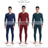 hot sale breathable stretchy thermal underwear thick plus long sleeve suits for boys