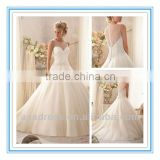 New Modern Delicate Crystal Beading Wedding Gowns Latest Design Ball Gown Bridal Wedding Dresses (WDBG-2602)
