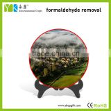 Hot sale activated carbon plate home decoration ,color spray scenery, landscape plate with plastic stand