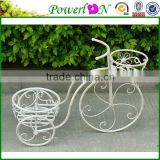 Sale Unique Design Antique Wrought Iron 2 Tier Bicycle Pot Planter For Patio Garden Home Backyard I23M TS05 X00 PL08-5826