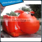 Funny inflatable puppy slide / cartoon dog shaped inflatable slide for kids
