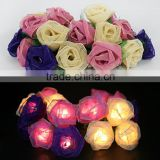 New Handmade Decoration Lighting Multicolor Rose Flower Design String Lights For Holiday, Party, Wedding, Christmas/Xmas Gift