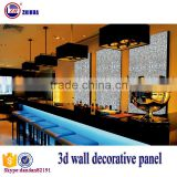 Eco-friendly 3d effect wood decorative wall panel for interior wall and ceiling decoration fireproof 3d-board 3d wallpaper