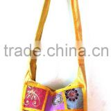 Handmade multi color vintage sari patchwork Shoulder/Traveler/Beach Bag Hippie gypsy bags