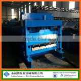 Hot sale PLC controled Glazed tile and IBR steel roof panel double layer roll forming machine