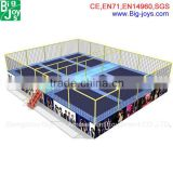 Big high quality square trampolines bungee trampoline with net retail