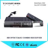 2015 Cost-effictive dvb t2 hd digital modulator dvb-t2&dvb-s2 set top box, Montage VT6000 dvb s2 satellite receiver