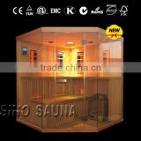 Full spectrum infrared sauna shower combination traditional stove sauna combination