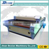 High speed fabric cnc laser cutter , auto feeding laser cutting machine for leather cutton garment