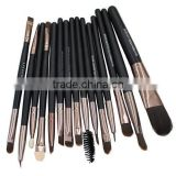 15PCS MAKEUP TOOL BRUSHES SET KIT EYESHADOW MASCARA LIP EYEBROW BEAUTY BRUSH