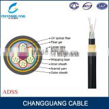 ADSS All-Dielectric kevlar yarn armored aerial long span ADSS fiber optic cable
