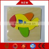 Baby toys china wholesale, wooden educational toys, wooden airplane shape puzzle