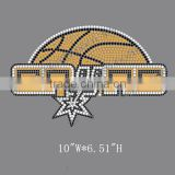 Basketball Team Hotfix Motif Spurs Rhinestone Transfer