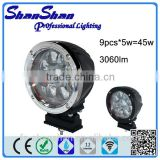 Anti-Dazzling 45W CREE LED DRIVING LIGHT, LED WORK LIGHT, OFF-ROAD VEHICLE LIGHT, SUV LIGHT