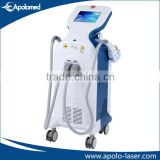 Chinese Apolo Med CE& ISO approved beauty machine e light ipl rf face rejuvenation hair removal