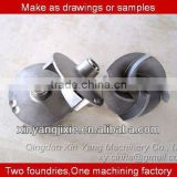 CNC machining customized cast iron water pump impeller