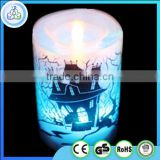Chinese plastic party multi color flameless led candle